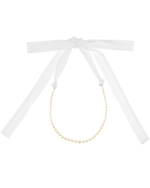 Miu Miu | White Faux Pearl-embellished Necklace | Lyst