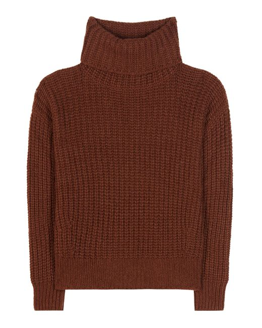 Loro Piana   Brown Davenport Cashmere Turtleneck Sweater   Lyst