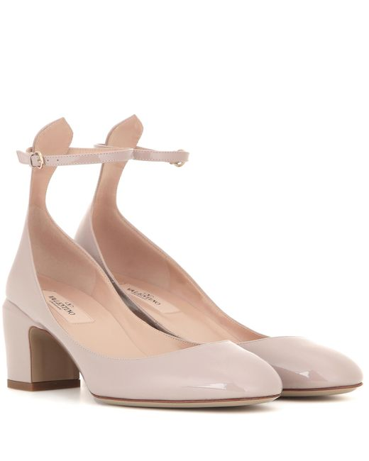 Womens Taupe Patent Leather Shoes
