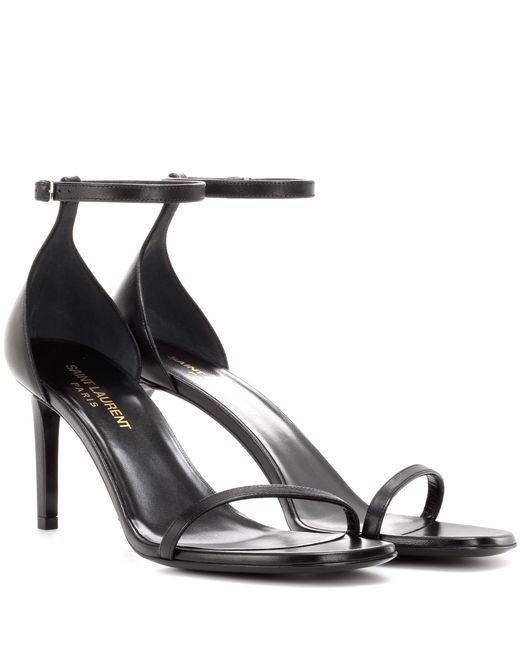 Saint Laurent | Black Jane 80 Leather Sandals | Lyst