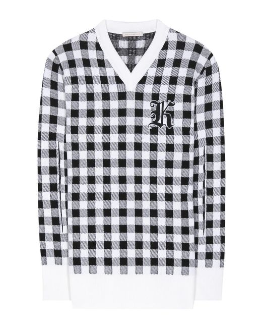 Christopher Kane | Multicolor Gingham Wool, Cashmere And Virgin Wool Sweater | Lyst