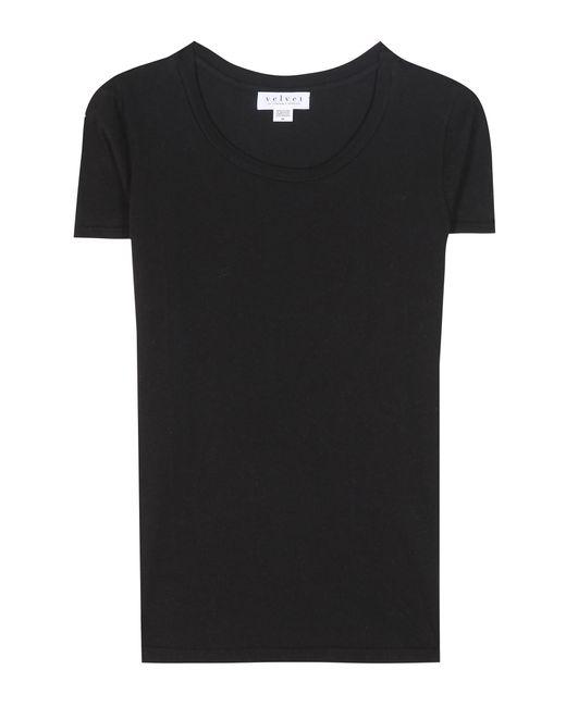 Velvet | Black Snoop Cotton Jersey T-shirt | Lyst