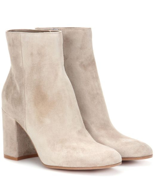 Gianvito Rossi | Natural Exclusive To Mytheresa. Com – Rolling 85 Suede Ankle Boots | Lyst