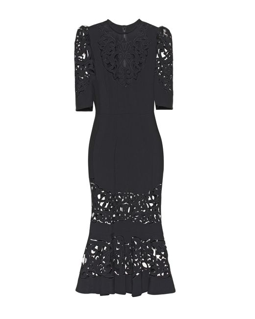 Dolce & Gabbana | Black Cady-crêpe Dress | Lyst