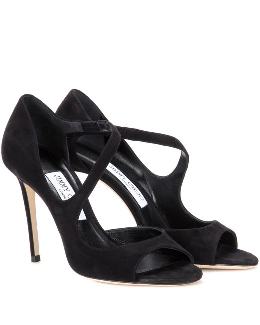 Jimmy Choo | Black Dawes 100 Suede Pumps | Lyst
