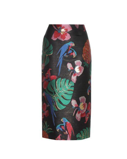 Valentino | Multicolor Brocade Skirt | Lyst
