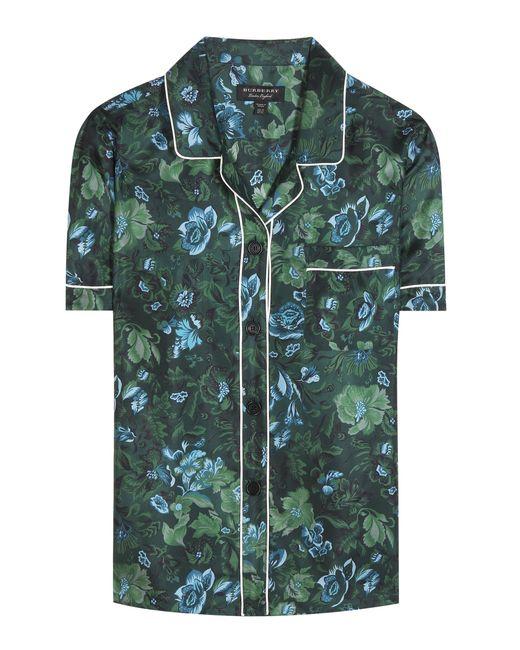 Burberry   Green Printed Pyjama Shirt   Lyst
