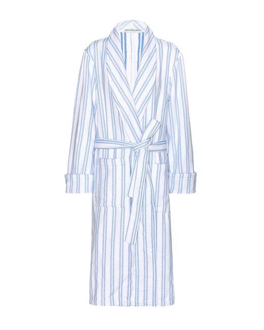 Balenciaga | Blue Cotton Robe | Lyst