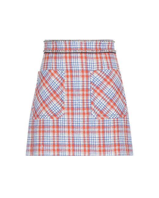 Miu Miu   Red Embellished Wool-blend Skirt   Lyst
