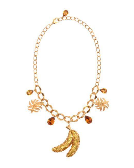 Dolce & Gabbana   Metallic Crystal Embellished Necklace   Lyst