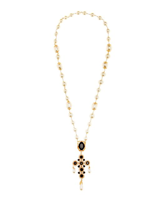 Dolce & Gabbana   Metallic Perle Necklace With A Pendant   Lyst