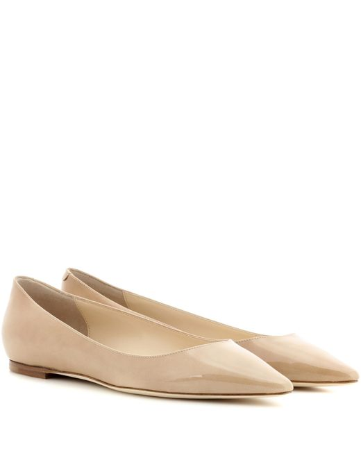 Jimmy Choo | Natural Romy Patent Leather Ballerinas | Lyst