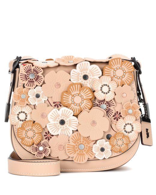 COACH | Pink Saddle 23 Embellished Leather Shoulder Bag | Lyst