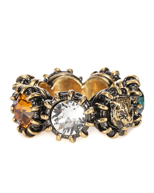 Gucci | Multicolor Crystal-embellished Ring | Lyst
