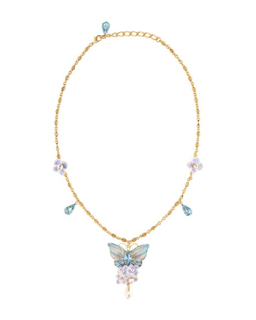 Dolce & Gabbana | Blue Crystal Butterfly Necklace | Lyst