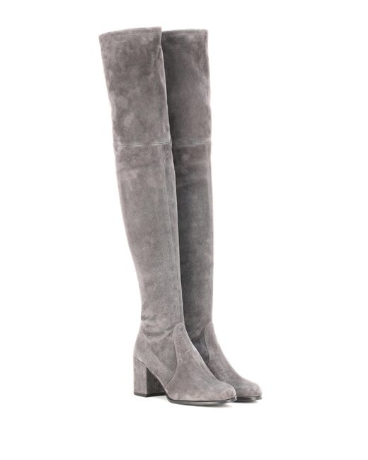 Stuart Weitzman | Gray The Tieland Boots | Lyst