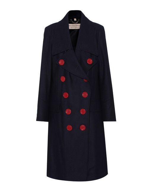 Burberry | Blue Benington Wool Coat | Lyst