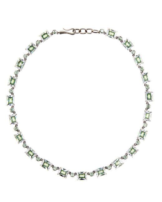 Bottega Veneta | Metallic Silver And Cubic Zirconia Necklace | Lyst