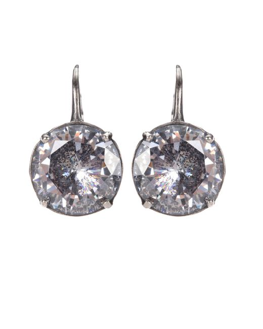 Bottega Veneta | Metallic Cubic Zirconia Earrings | Lyst