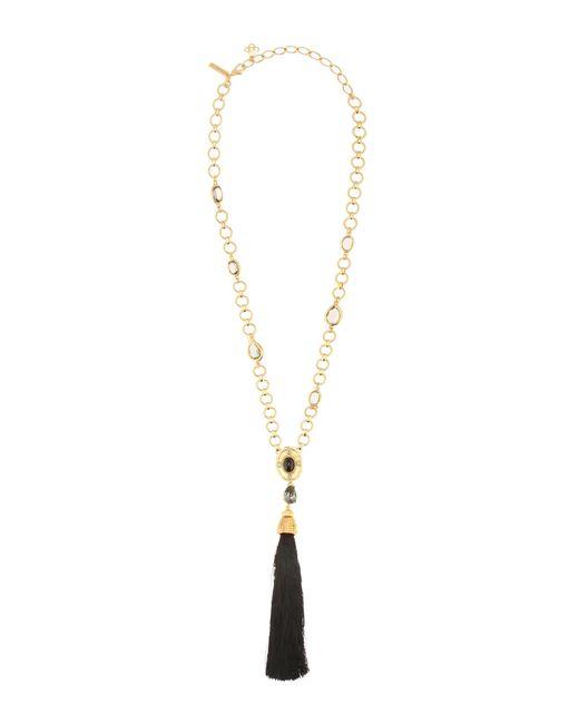 Oscar de la Renta | Metallic Crystal-embellished Tasseled Necklace | Lyst