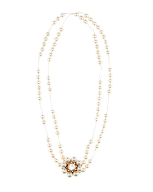 Stella McCartney | White Faux-pearl Necklace | Lyst