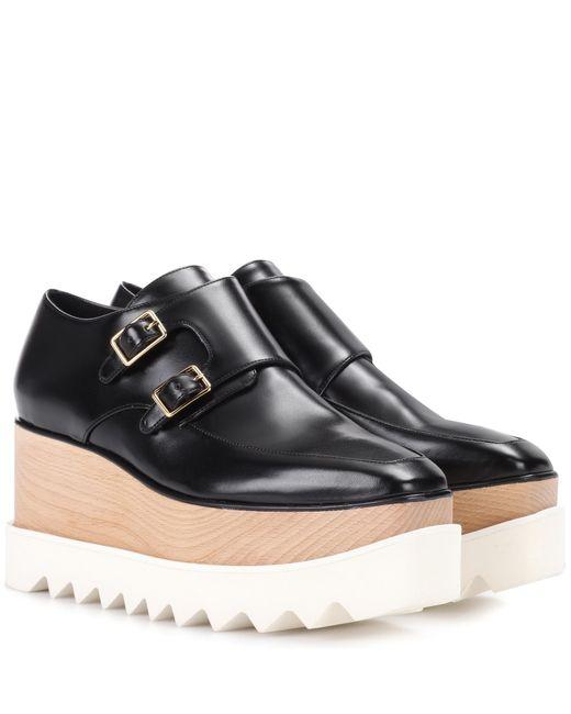 Stella McCartney | Black Elyse Platform Monk Shoes | Lyst