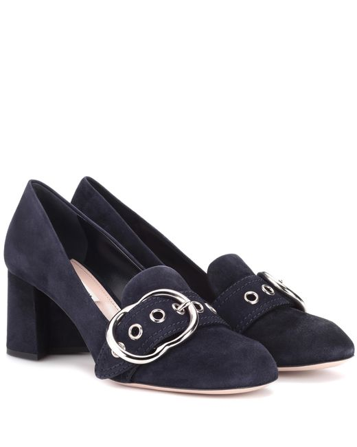Miu Miu | Blue Suede Pumps | Lyst