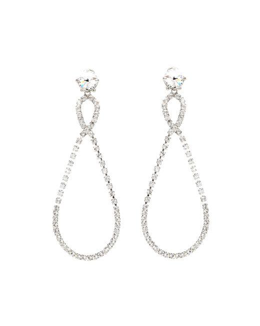 Miu Miu | Metallic Crystal-embellished Clip-on Earrings | Lyst