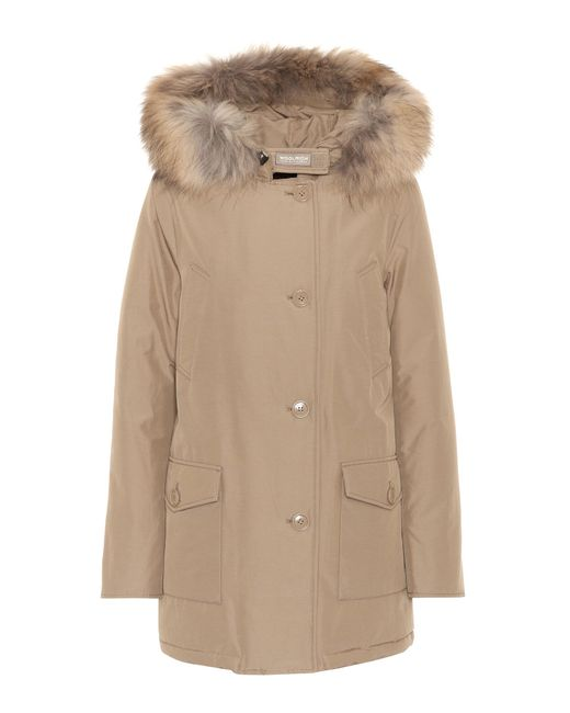 Woolrich   Multicolor Arctic Fur-trimmed Parka   Lyst