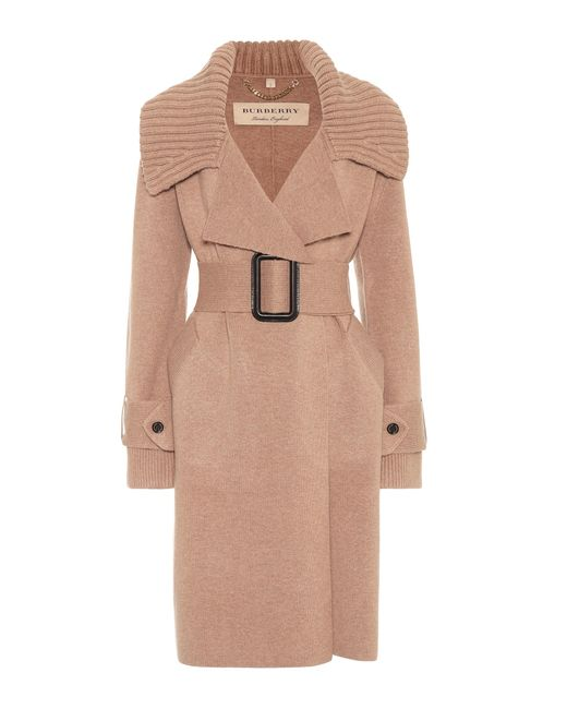 Burberry | Natural Piota Knit Trench Coat | Lyst