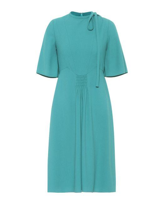 Valentino | Green Crêpe Dress | Lyst