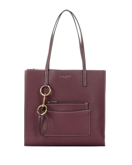 Marc Jacobs | Red Bold Grind Leather Tote | Lyst