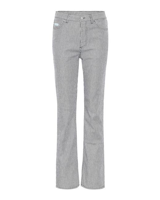 AlexaChung - Blue High Rise Jeans - Lyst