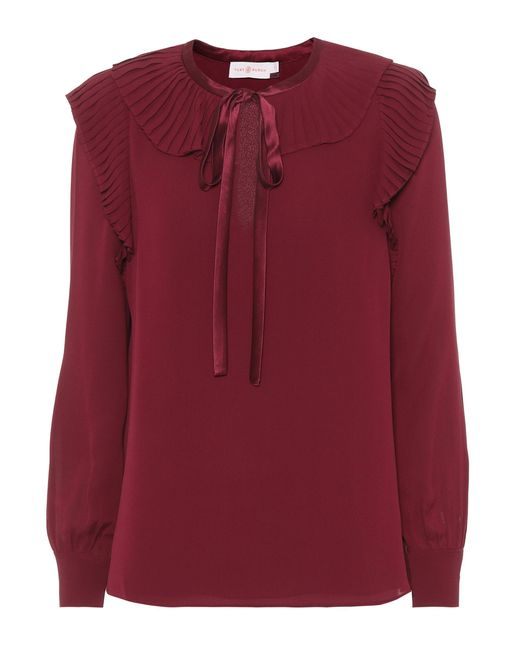 Tory Burch - Red Diana Top - Lyst
