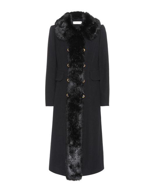 Tory Burch | Black Celeste Wool-blend Coat | Lyst