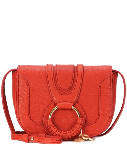 See By Chloé - Red Hana Mini Leather Shoulder Bag - Lyst