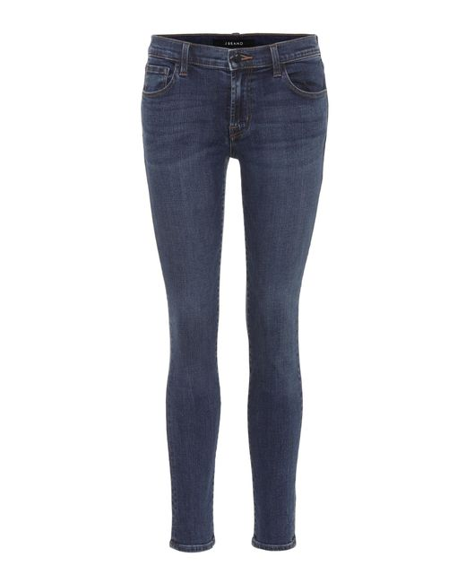 J Brand - Blue 811 Mid-rise Skinny Jeans - Lyst