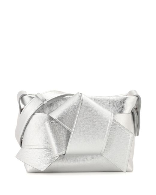 Acne - Metallic Exclusive To Mytheresa.com – Musubi Leather Handbag - Lyst