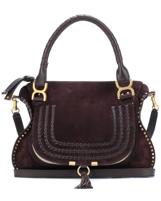 Chloé | Brown Marcie Medium Suede Shoulder Bag | Lyst