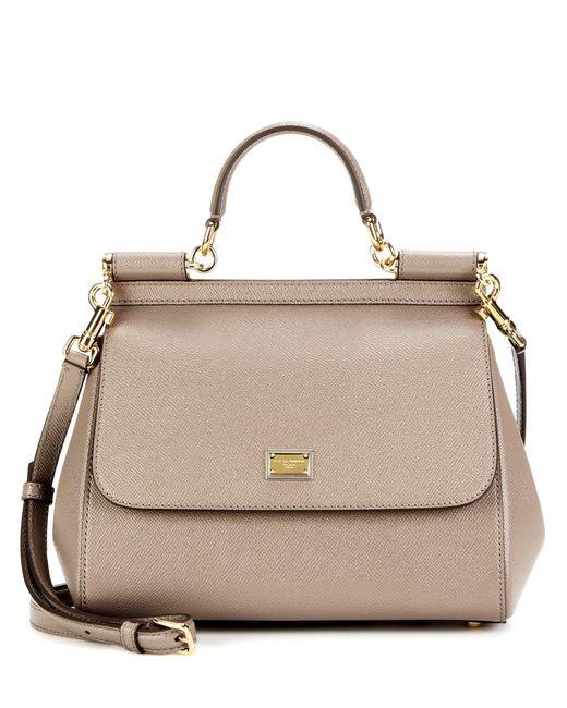 Dolce & Gabbana - Natural Sicily Medium Leather Shoulder Bag - Lyst