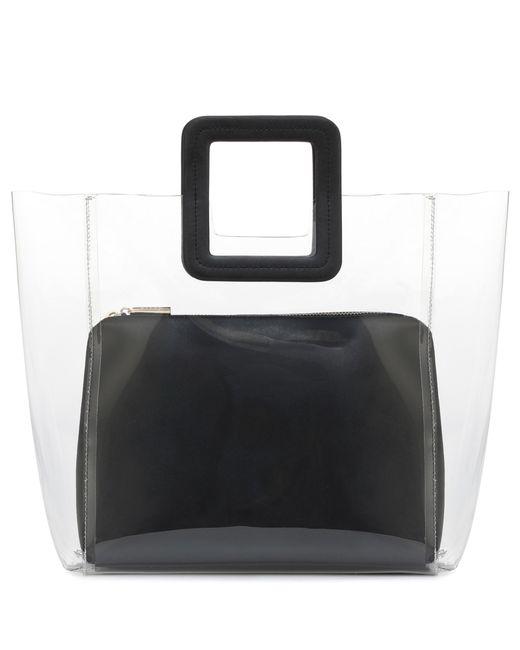 Staud - Black Cabas en PVC à finitions en cuir Shirley - Lyst