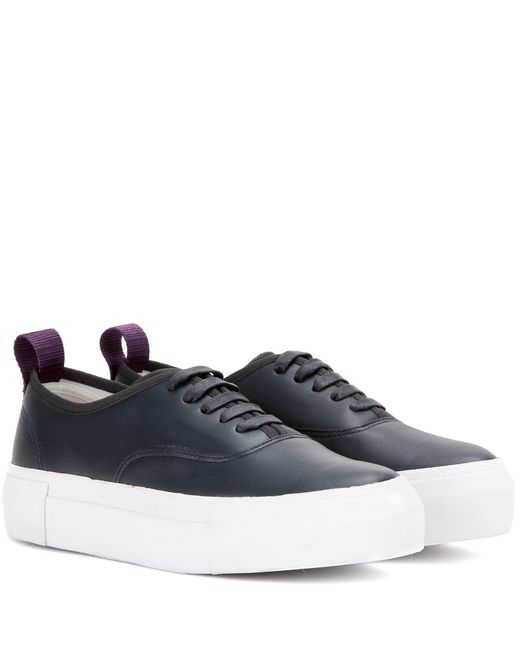 Eytys - Blue Mother Leather Sneakers - Lyst
