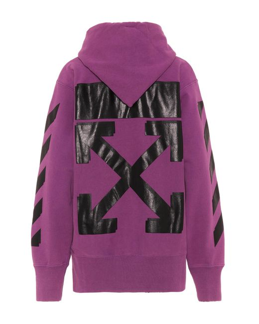 Lyst Off White C O Virgil Abloh X Champion Hoodie In Purple
