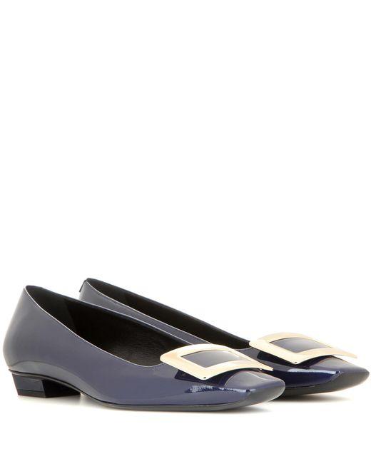 Roger Vivier - Blue Belle Vivier Patent Leather Ballerinas - Lyst
