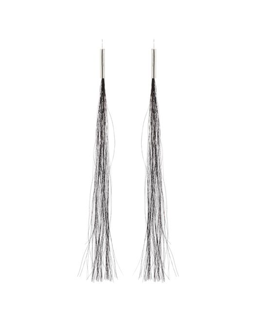 Helmut Lang | Black 2004 Horse Hair Earrings | Lyst