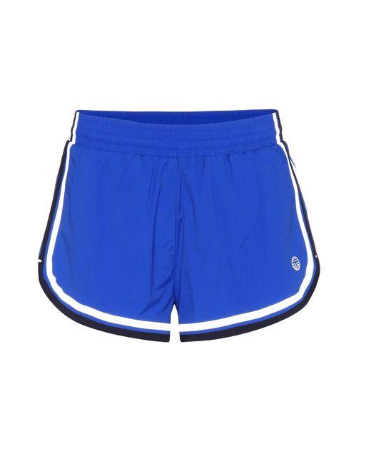 Tory Sport | Blue Side-striped Shorts | Lyst