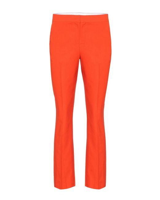 Diane von Furstenberg - Orange Linen-blend Trousers - Lyst