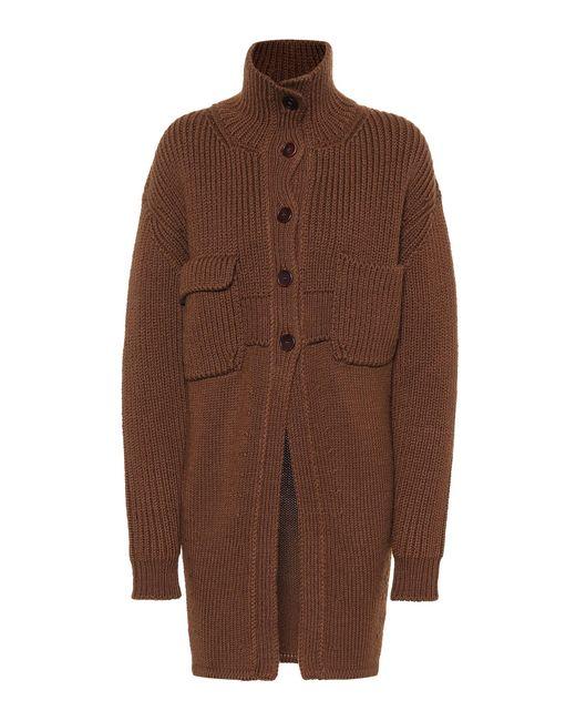 Chloé - Brown Wool-blend Cardigan - Lyst