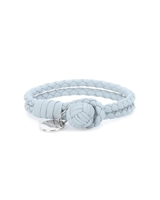 Bottega Veneta - Blue Knot Intrecciato Leather Bracelet - Lyst