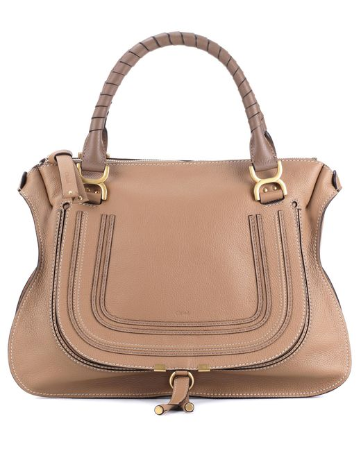 Chloé - Brown Marcie Large Leather Tote - Lyst